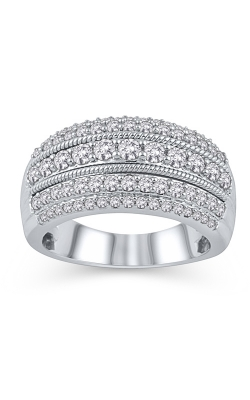 Five Row Diamond Anniversary Band In 14K White Gold, 1ctw product image