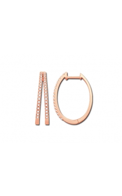 Double Hoop Diamond Earrings in Rose Gold, 1/4ctw product image