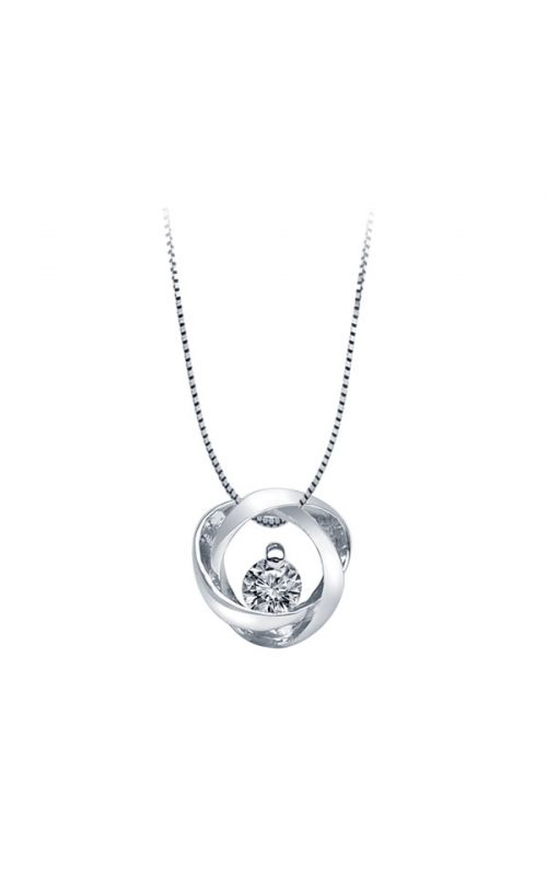 Time & Eternity Diamond Pendant, 1/20ctw product image
