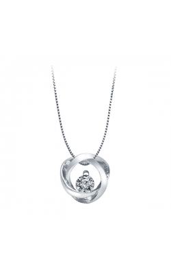 Time & Eternity Diamond Pendant, 1/10ctw product image