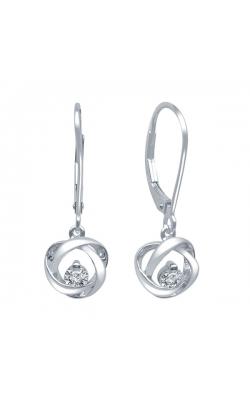 Time & Eternity Diamond Drop Earrings, 1/10ctw product image