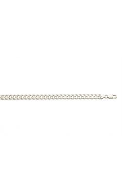 8.5mm Curb Chain Necklace in Sterling Silver - 22 product image