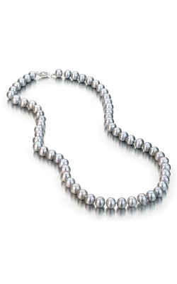 Freshwater Grey Pearl Necklace with 14k White Gold Clasp product image