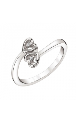 Two-Stone Twin Hearts Endless Promise Ring in Sterling Silver product image