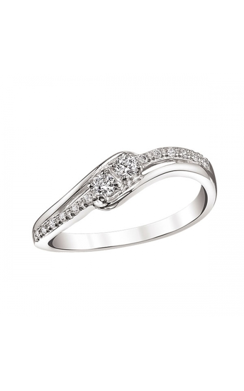 Two-Stone-Plus Endless Promise Ring in Sterling Silver, 1/5ctw product image
