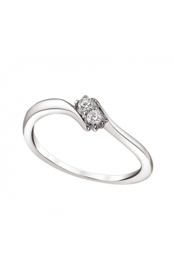 Two-Stone Bypass Ring in Sterling Silver, 1/20ctw product image