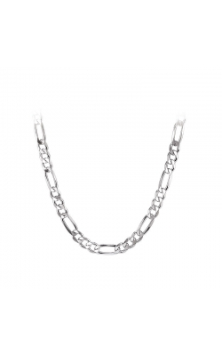 Men's Sterling Silver 8.7mm Figaro Chain, 22 Inch product image