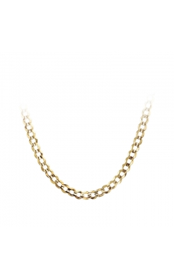 Men's 10k Yellow Gold 5.9mm Curb Chain, 22 Inch product image