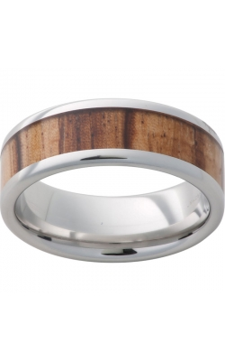 Men's Serinium Zebra Wood Band, 8mm product image