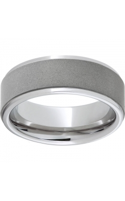 Men's Serinium Sandblast Center Band , 8mm product image