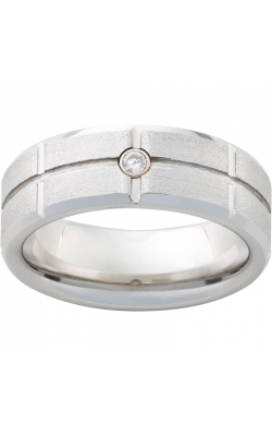 Men's Serinium Diamond Stone Finish Band, 8mm product image