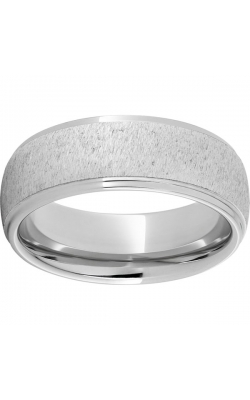 Men's Serinium Stone Finish Band With Milgrain, 8mm product image
