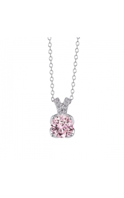 Pink Cubic Zirconia Pendant In Sterling Silver product image