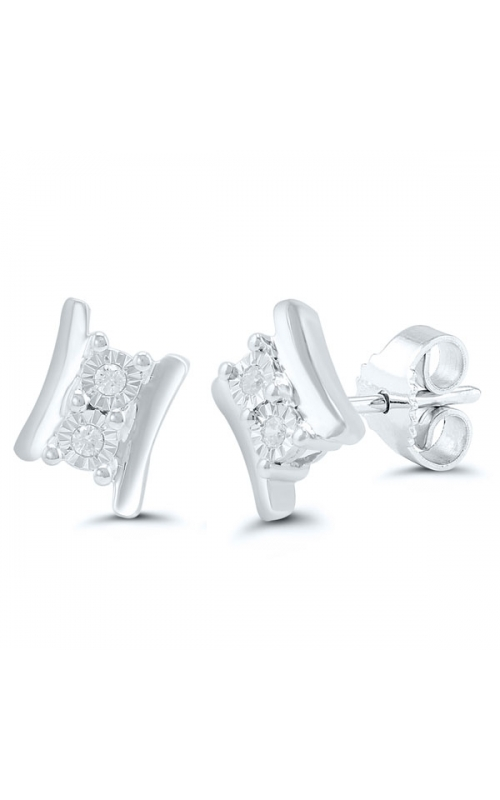 Twogether Two-Stone Diamond Earrings, 1/20ctw product image