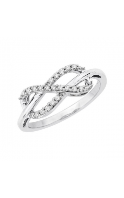 Diamond Infinity Ring in Sterling Silver, 1/8ctw product image