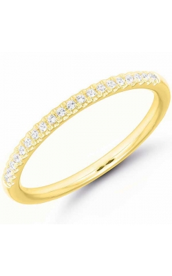 Diamond Anniversary Band In Yellow Gold, 1/10ctw product image