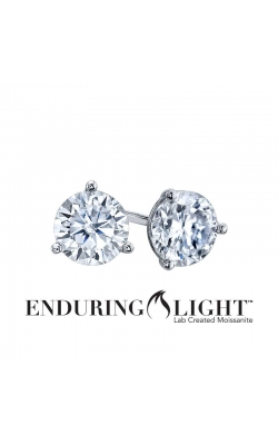 Enduring Light Lab Created Moissanite Stud Earrings in 14k White Gold, 6.5mm product image