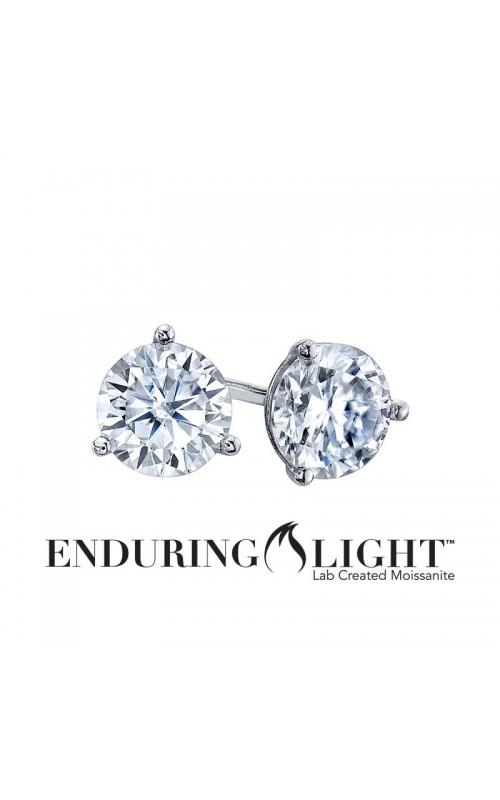Enduring Light Lab Created Moissanite Stud Earrings in 14k White Gold, 5mm product image