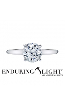 Enduring Light Lab Created Moissanite Solitaire Ring in 14K White Gold, 6.5mm product image