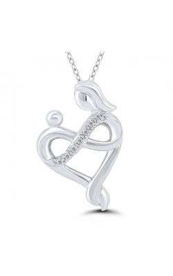 Motherly Love Heart + Infinity Diamond Pendant in Sterling Silver, 1/20ctw product image