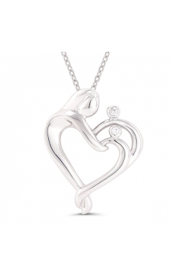 Mother & Children Diamond Pendant in Sterling Silver product image
