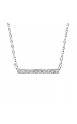Diamond Accent High Bar Pendant in Sterling Silver, 1/20ctw product image