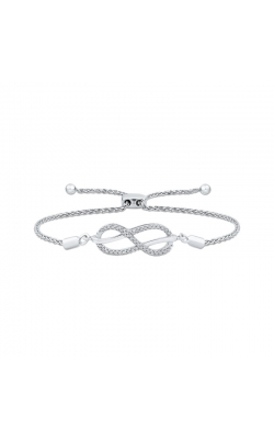 Diamond Infinity Bolo Bracelet in Sterling Silver, 1/8ctw product image