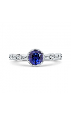 Genuine Blue Sapphire And Diamond Fashion Ring In White Gold, 1/20ctw product image