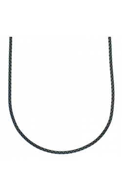24 Inch IP Black Stainless Steel Rolo Chain, 4mm product image