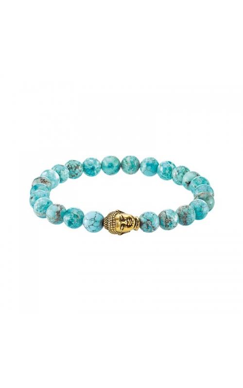Men's Stabilized Turquoise Bead Bracelet with Buddha product image
