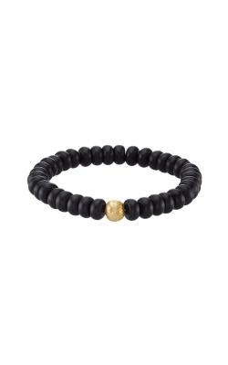 Men's Black Agate Bead Bracelet product image