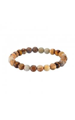 Men's Jasper & Tiger Eye Bead Bracelet product image