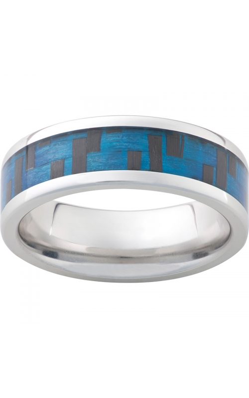 Men's Serinium Blue Carbon Fiber Band, 8mm product image