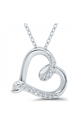 Kissing Hearts Diamond Pendant in Sterling Silver, 1/20ctw product image