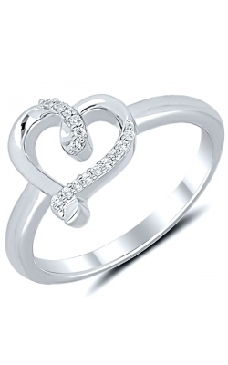 Kissing Hearts Diamond Fashion Ring in Sterling Silver, 1/20ctw product image