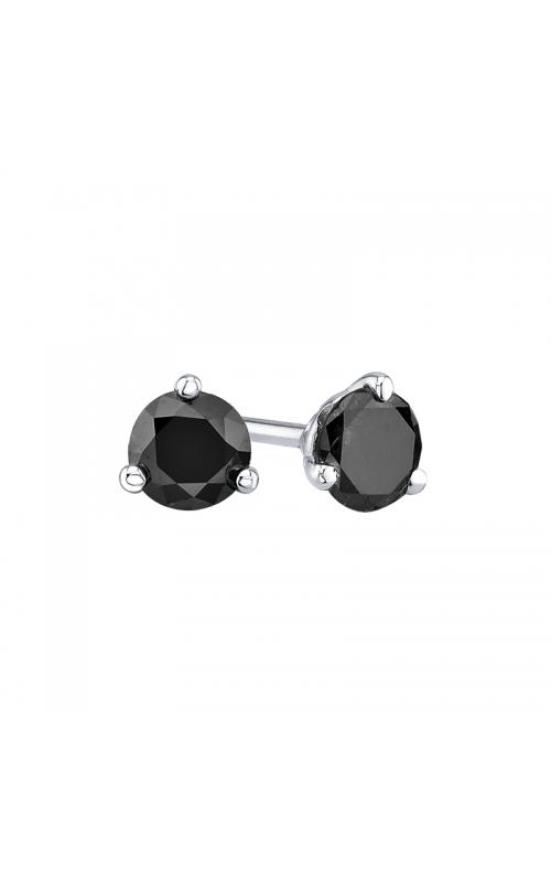 Black Diamond Stud Earrings in 14K White Gold, 1/3ctw product image