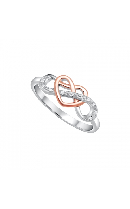Diamond Infinity Heart Ring in Two-Tone Sterling Silver, 1/20ctw product image