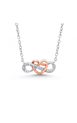 Diamond Infinity Heart Pendant in Two-Tone Sterling Silver, 1/20ctw product image