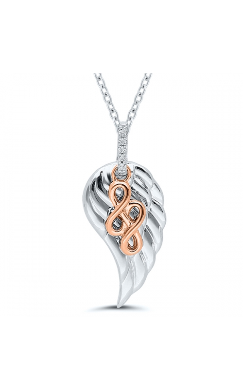 Forever + Ever Angel Wing Diamond Pendant in Two-Tone Sterling Silver product image