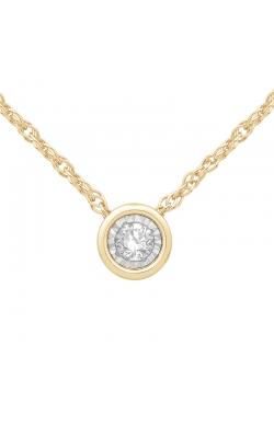 Bezel-Set Diamond Solitaire Pendant in Yellow Gold, 1/10ctw product image