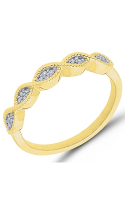 Composite Diamond Marquise Ring In Yellow Gold, 1/20ctw product image
