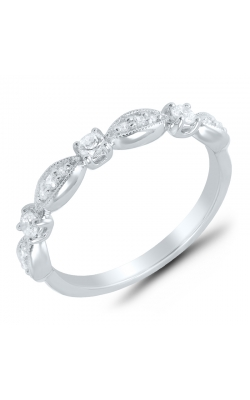 Alternating Diamond Stackable Band In White Gold, 1/4ctw product image