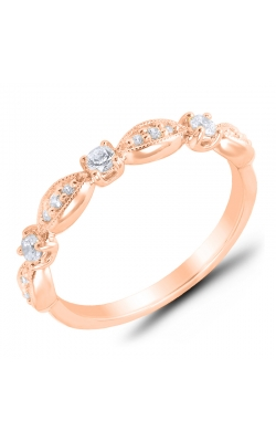 Alternating Diamond Stackable Band In Rose Gold, 1/4ctw product image
