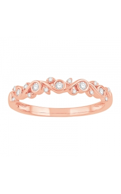 Vine-Style Diamond Band In 10K Rose Gold, 1/8ctw product image
