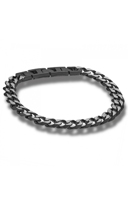 Men's 11mm Curb Chain Link Bracelet in Black IP Stainless Steel - 9 Inch product image