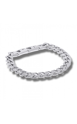 Men's 11mm Curb Chain Link Bracelet In Stainless Steel - 9 Inch product image