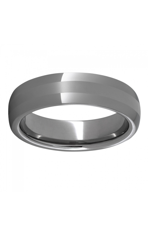 Men's 6mm Rugged Tungsten Domed Laser Satin Band product image