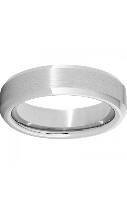 Men's 6mm Serinium Satin Finish Beveled Edge Band product image