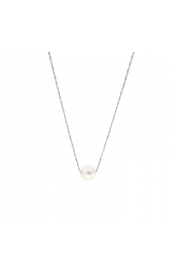 8.5-9mm Cultured Freshwater White Pearl Threaded Pendant in 14K White Gold product image