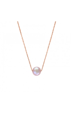 8.5-9mm Cultured Freshwater Pink Pearl Threaded Pendant in 14K Rose Gold product image